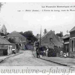 ATHIES - Entrée du bourg, route de Mons