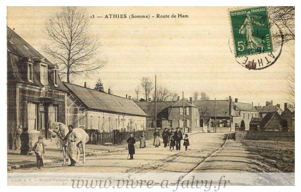ATHIES - Route de HAM