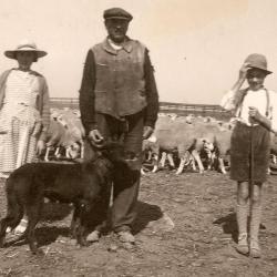 Lucien Parau, berger à Falvy