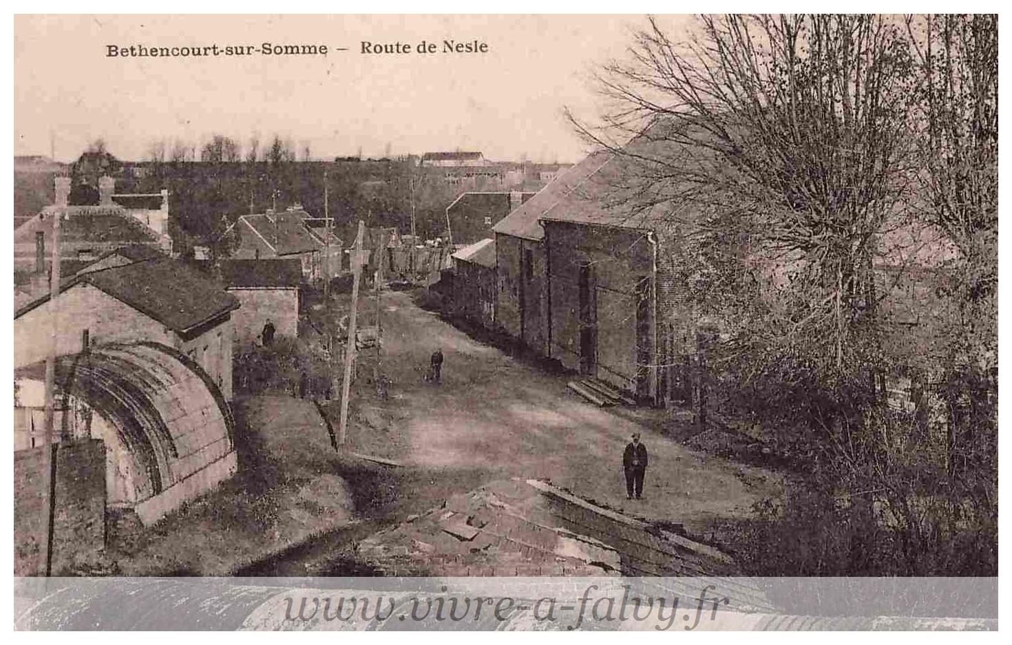 Bethencourt - Route de Nesle