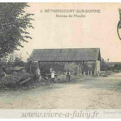 Bethencourt - Ruines du moulin 1923