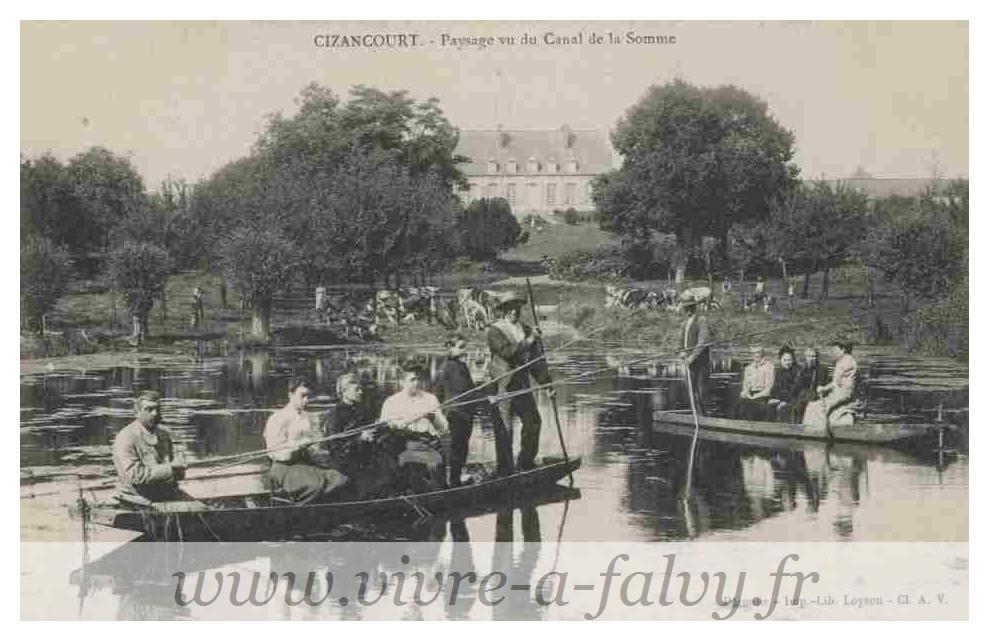 Cizancourt - Paysage vue du Canal de la Somme 1914