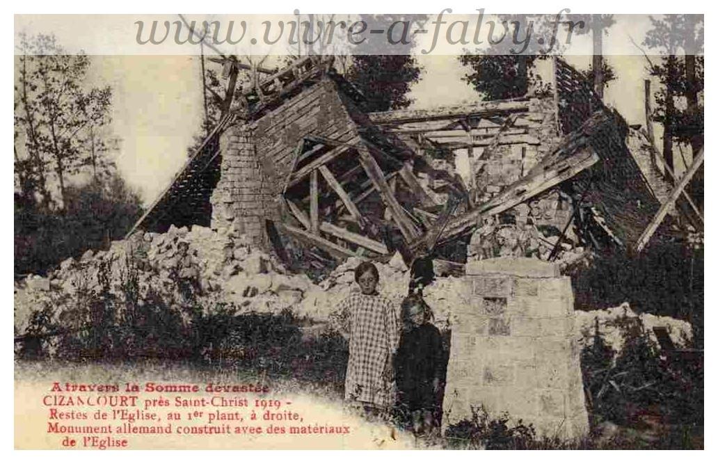 Cizancourt - Restes Eglise 1919