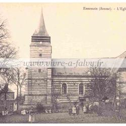 Ennemain - L'église (1954)