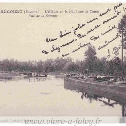 Epenancourt - Ecluse et le Pont sur le Canal