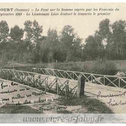 Epenancourt - Le Pont sur la Somme vers 1918