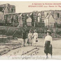 Epenancourt - Les restes de l'Eglise vers 1919
