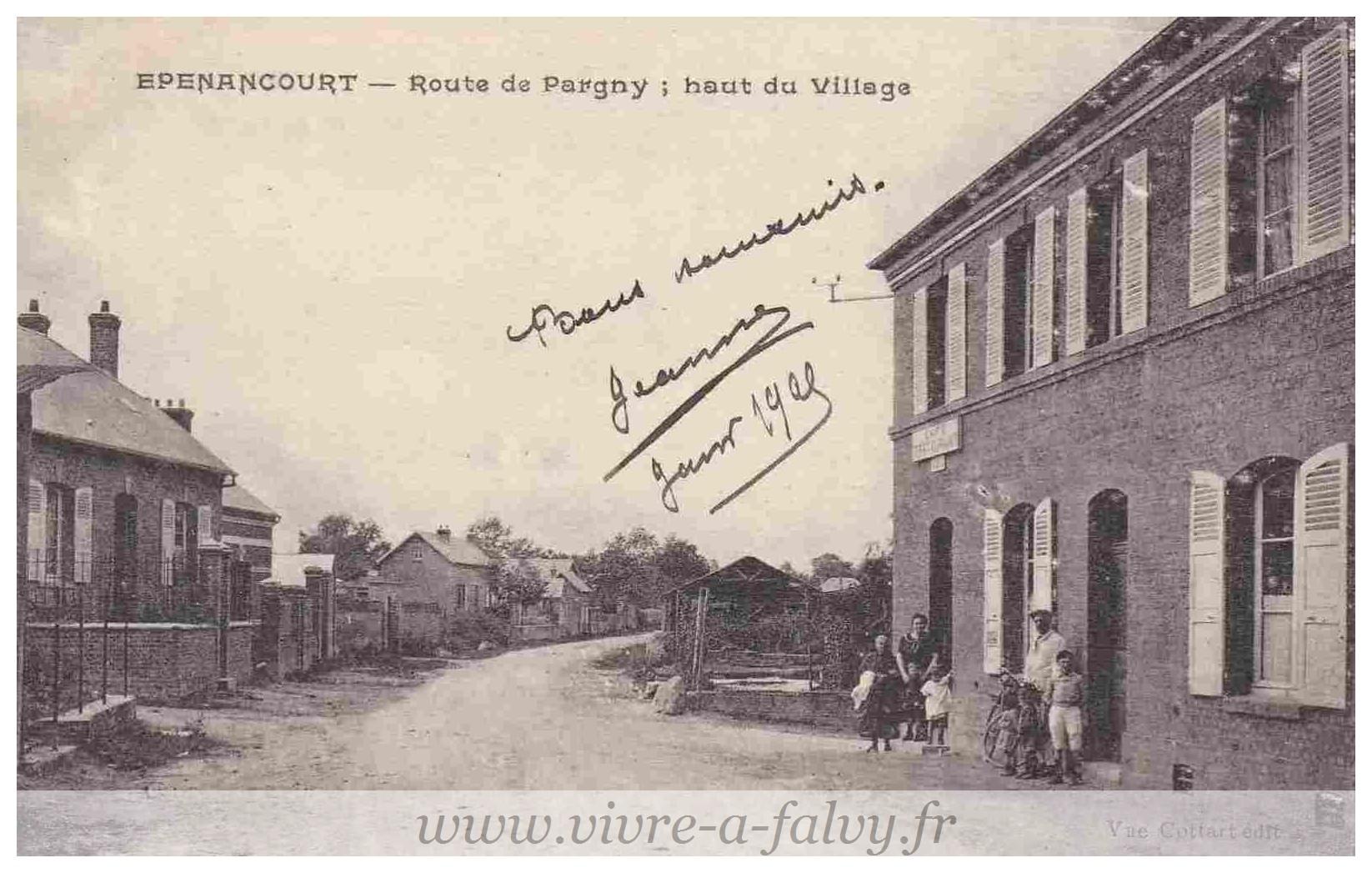 Epenancourt - Route de Pargny