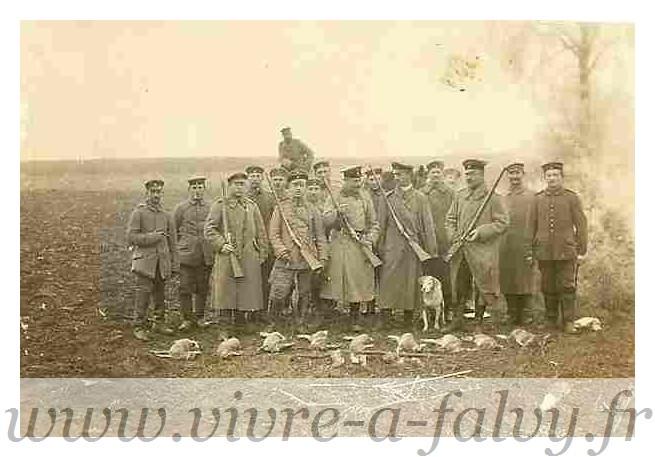 Morchain - Chasse aux Canards Officiers Allemands