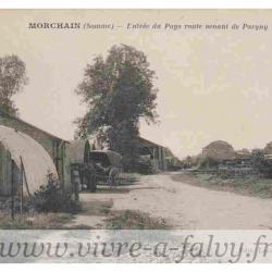 Morchain - Entrée du Pays route venant de Pargny