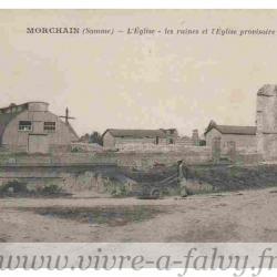 Morchain - Les ruines de l'Eglise provisoire