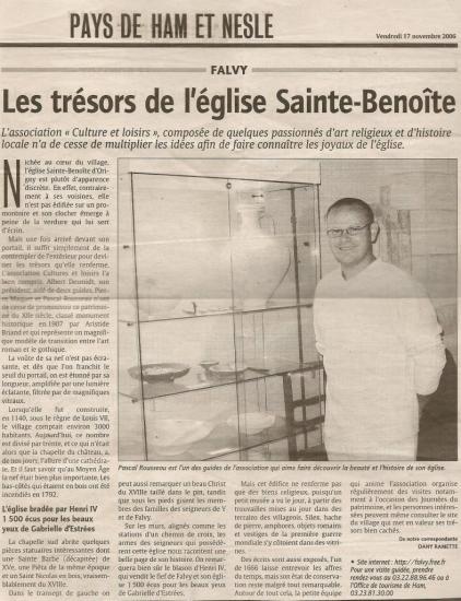 Visite église Sainte-Benoîte