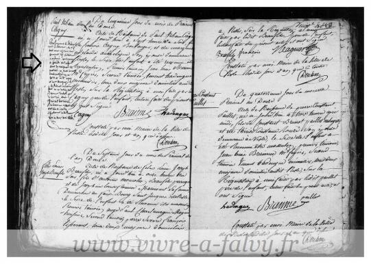 Declaration naissance de cagny