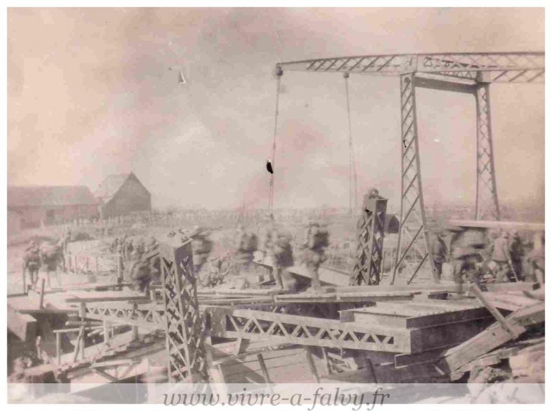 Photo mars 1918 pont de pargny cimetiere militaire allemand 2