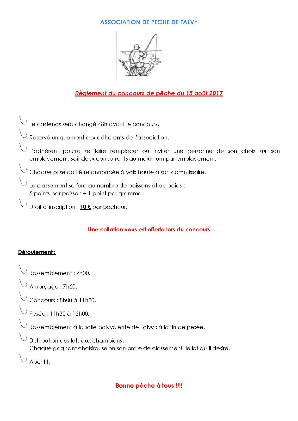 Reglement concours 15 aout 2017