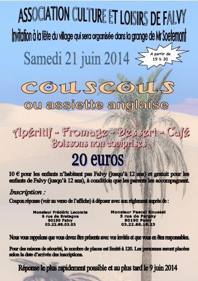 Repas couscous 21 06 2014